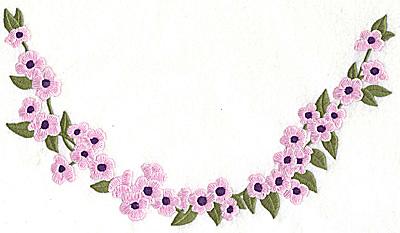 Embroidery Design: Blossom neckline large 10.01w X 5.58h