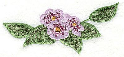 Embroidery Design: Blossom trio large 4.45w X 2.14h