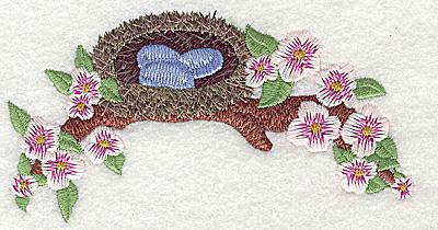 Embroidery Design: Bird nest large 4.93w X 2.62h