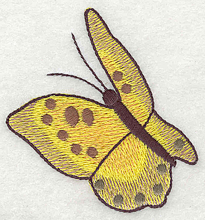 Embroidery Design: Butterfly in flight large 3.03w X 2.87h