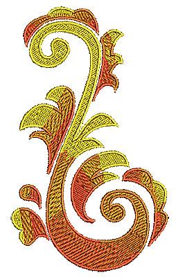 Embroidery Design: Scrollworks swirl 3 3.11w X 5.24h
