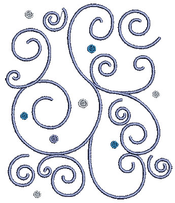Embroidery Design: Scrollworks swirls design 5.98w X 7.01h