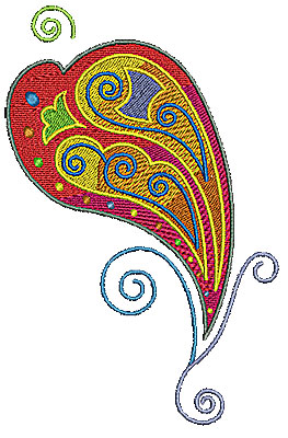 Embroidery Design: Scrollworks heart swirl design 4.35w X 6.69h