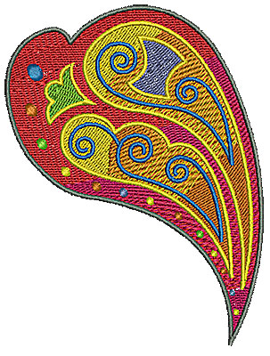 Embroidery Design: Scrollworks heart 3.65w X 4.80h