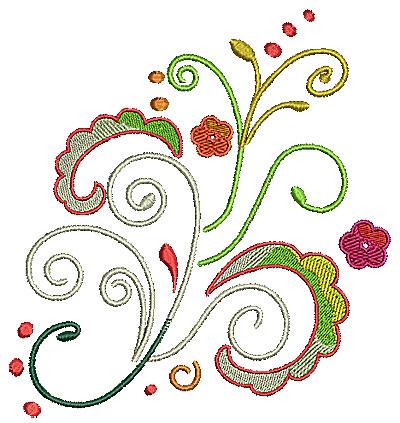 Embroidery Design: Scrollworks floral swirls 5.97w X 6.37h