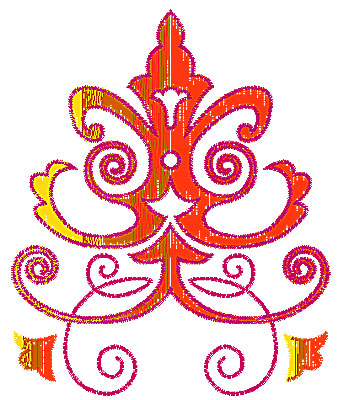Embroidery Design: Scrollworks design 5.00w X 6.06h