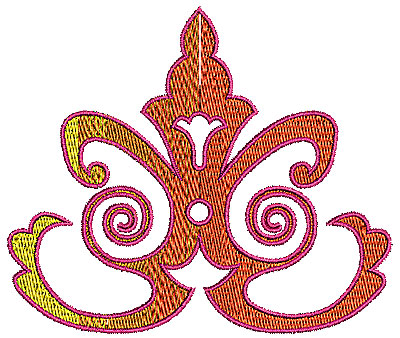 Embroidery Design: Scrollworks design 1 4.44w X 3.76h