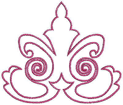 Embroidery Design: Scrollworks design 1 outline 4.44w X 3.76h