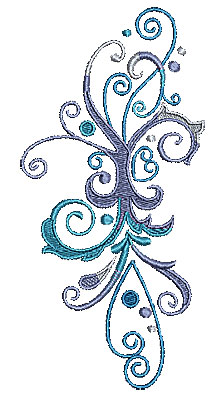 Embroidery Design: Scrollworks swirls design  3.36w X 6.97h