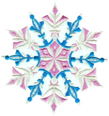"Embroidery Design: Snowflake 14.81"" x 4.84"""