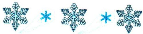"Embroidery Design: Snowflake 26.40"" x 1.40"""
