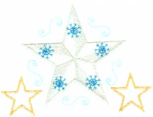 "Embroidery Design: Snowflake 44.26"" x 3.16"""
