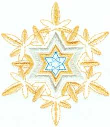 "Embroidery Design: Snowflake 63.00"" x 3.46"""