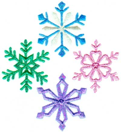 "Embroidery Design: Snowflake 74.24"" x 3.86"""