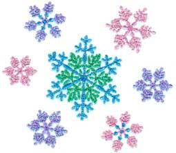 "Embroidery Design: Snowflake 103.43"" x 2.97"""
