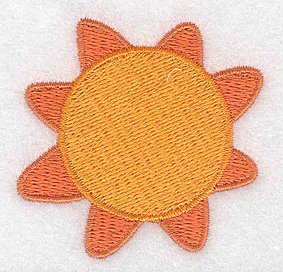 Embroidery Design: Sun 2.22w X 2.19h