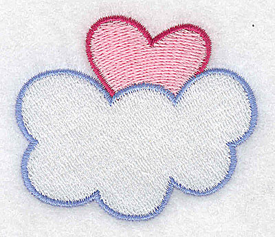 Embroidery Design: Heart in the clouds 2.55w X 2.18h