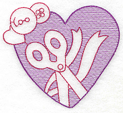 Embroidery Design: Heart large 4.31w X 4.75h