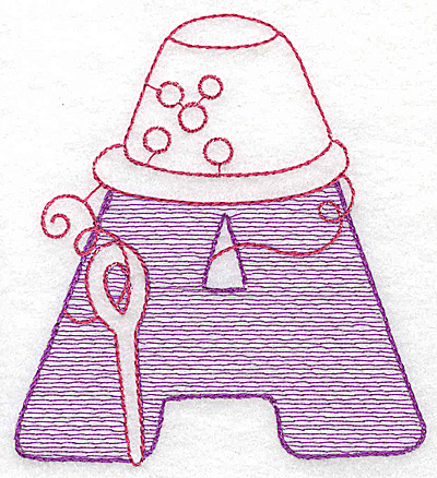 Embroidery Design: A medium 4.06w X 3.68h