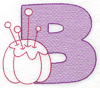 Embroidery Design: B medium 3.43w X 3.93h