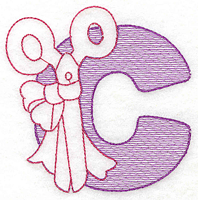 Embroidery Design: C large 4.68w X 4.62h