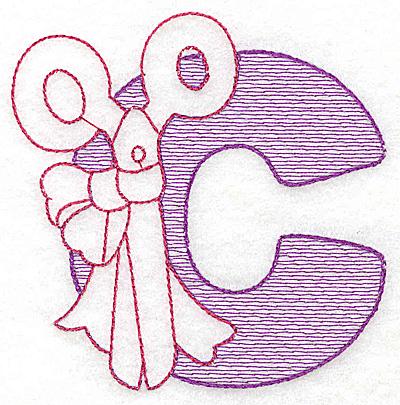 Embroidery Design: C small 3.06w X 3.06h