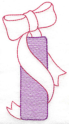 Embroidery Design: I large 5.87w X 3.18h