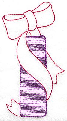 Embroidery Design: I medium 4.81w X 2.62h