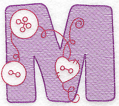 Embroidery Design: M small 2.75w X 3.12h