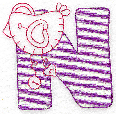 Embroidery Design: N small 2.93w X 2.93h