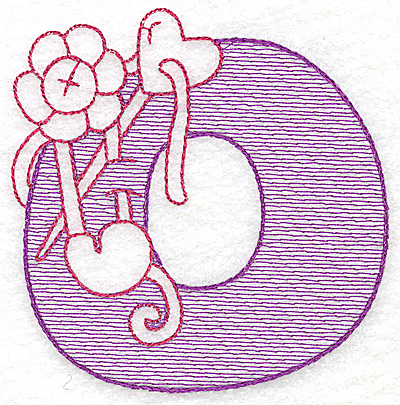 Embroidery Design: O large 4.50w X 4.43h