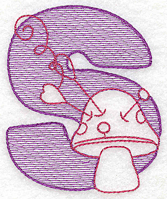Embroidery Design: S large 4.18w X 3.50h
