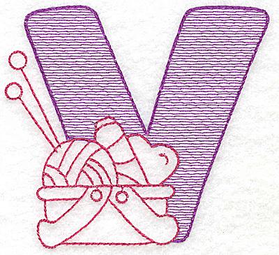 Embroidery Design: V small 2.75w X 3.00h