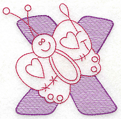 Embroidery Design: X large 4.62w X 4.75h