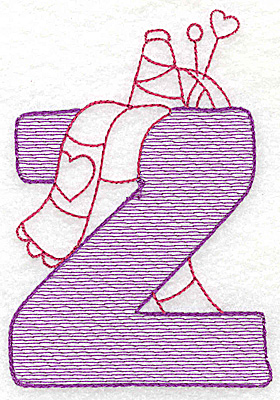 Embroidery Design: Z medium 4.56w X 3.12h