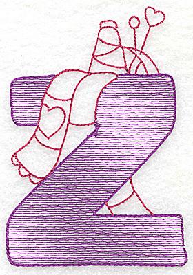Embroidery Design: Z small 3.62w X 2.50h