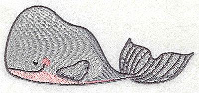 Embroidery Design: Whale large 4.98w X 2.10h