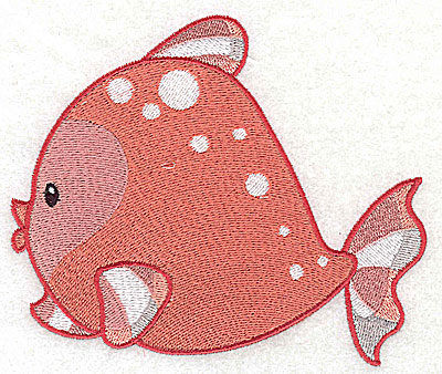 Embroidery Design: Fish A large 4.97w X 4.25h
