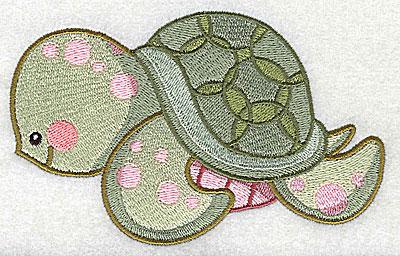 Embroidery Design: Sea turtle large 4.97w X 3.13h
