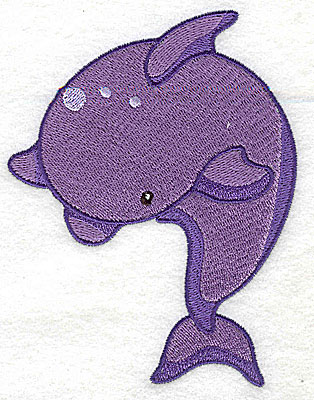 Embroidery Design: Dolphin large 3.83w X 4.96h