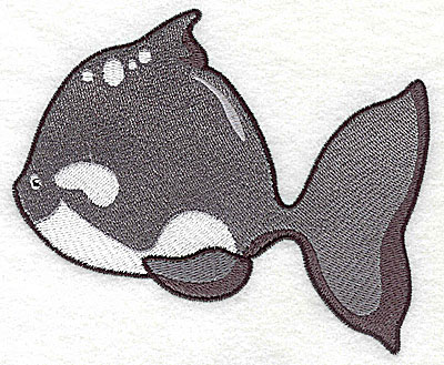 Embroidery Design: Fish B large 4.96w X 4.13h