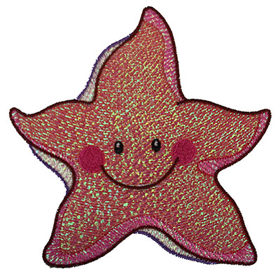 Embroidery Design: Mylar Starfish 4.96w X 4.94h