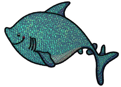 Embroidery Design: Mylar Shark 4.97w X 3.69h