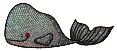 Embroidery Design: Mylar Whale 4.98w X 2.1h