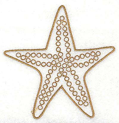 Embroidery Design: Starfish 3.51w X 3.61h
