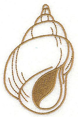 Embroidery Design: Seashell B 2.22w X 3.51h