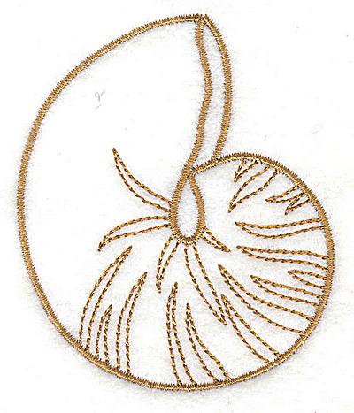 Embroidery Design: Seashell C 2.72w X 3.26h