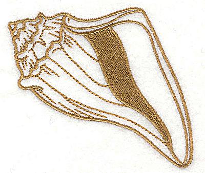 Embroidery Design: Seashell E 3.54w X 2.87h