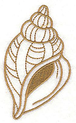 Embroidery Design: Seashell F 2.09w X 3.55h