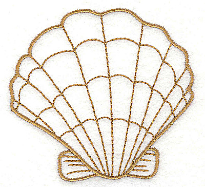 Embroidery Design: Clam shell 2 3.19w X 3.03h